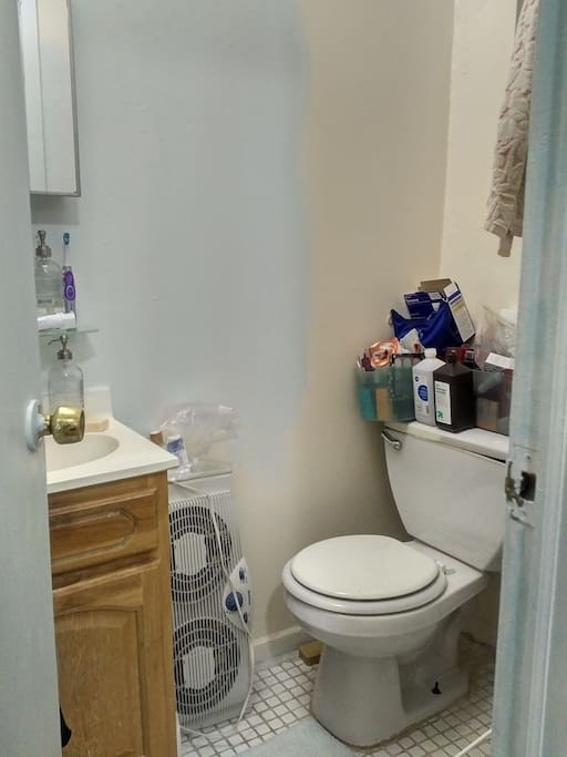 The bathroom - and yes I'm in the middle of painting it. :)
