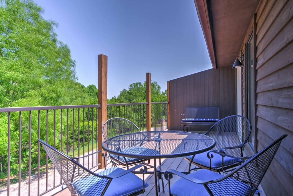 Enjoy the fresh air on the furnished deck.
