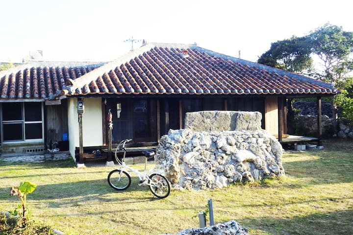 Iheya traditional wooden guest house