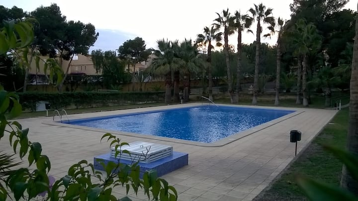 Traditional Spanish Style Apartment and large Pool