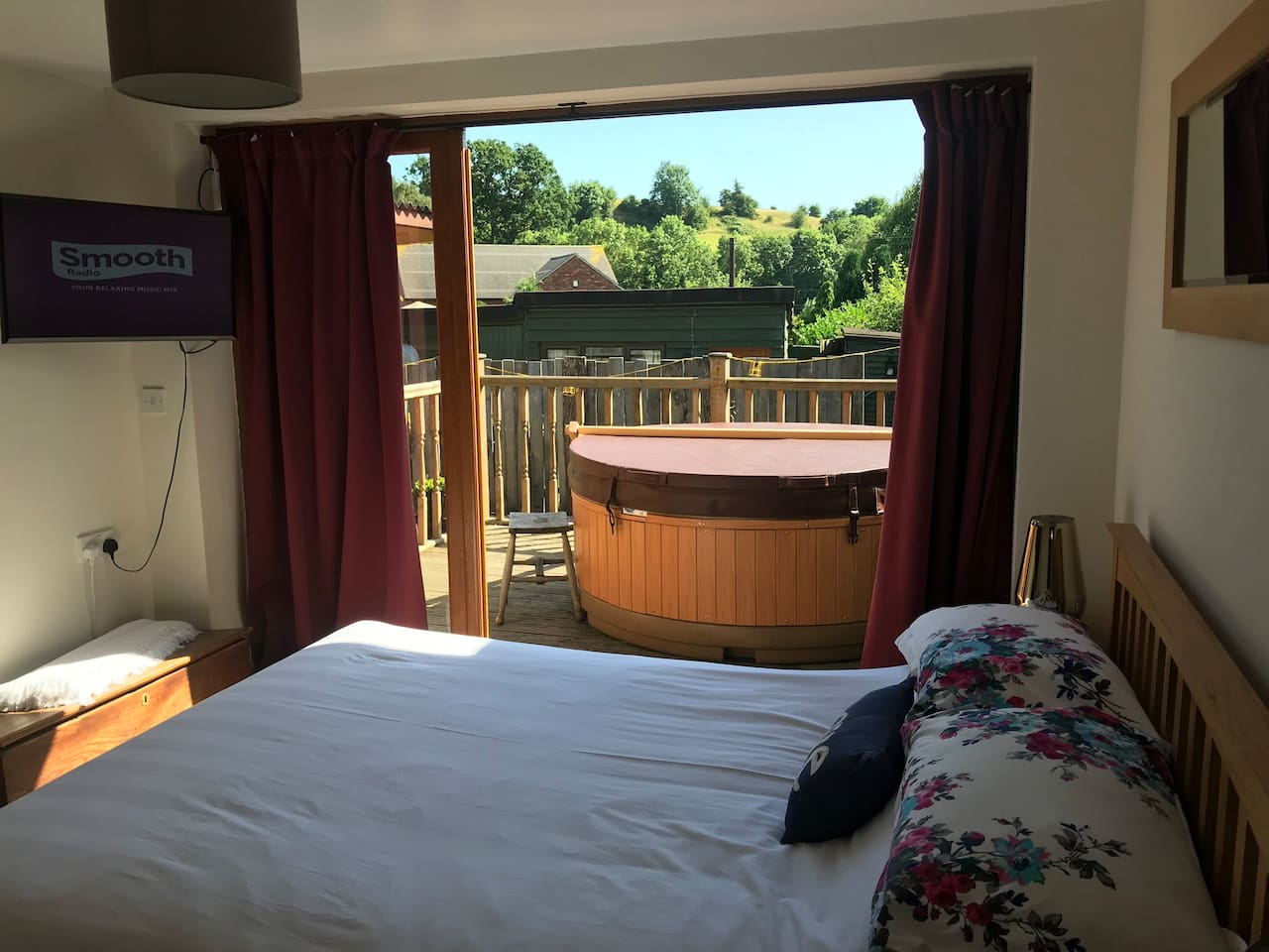 Such a lively view from your room.  It's very private and not overlooked.