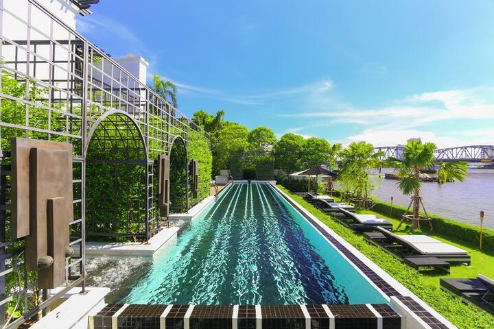 Luxury Pool Villa Riverview 130 sqm - Bangkok - Villa
