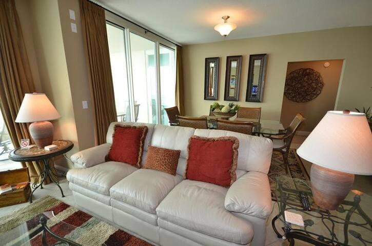 3 bedroom condo with 2 gulf front masters overlooking beach - Panama City Beach - Condomínio