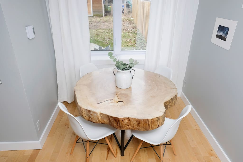 Custom-made 100yr old wooden table
