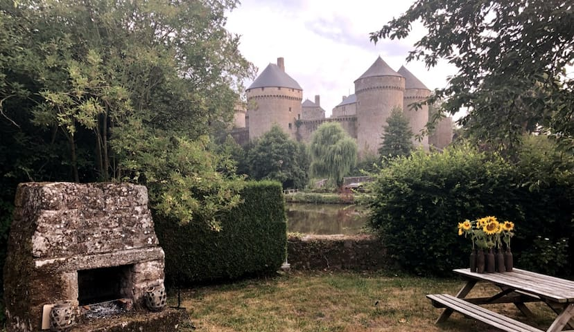 Normandy area medieval castle views in front yard