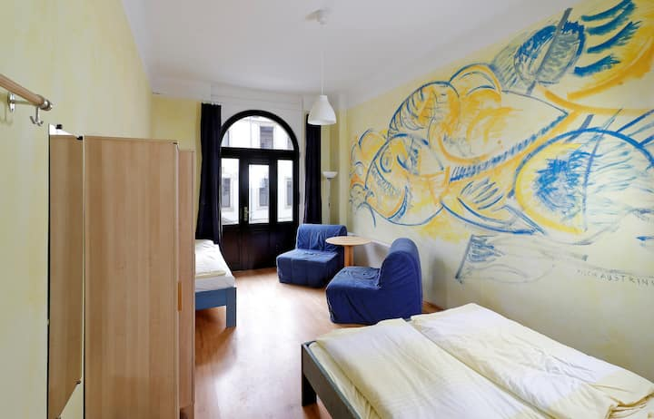 "Double room ""Fische"" with shower & WC on the floor"