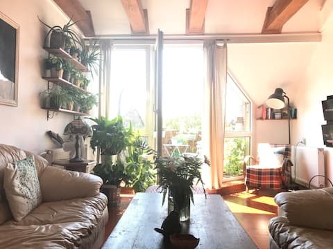 Útulná izba s krásnym výhľadom na UNESCO námestie