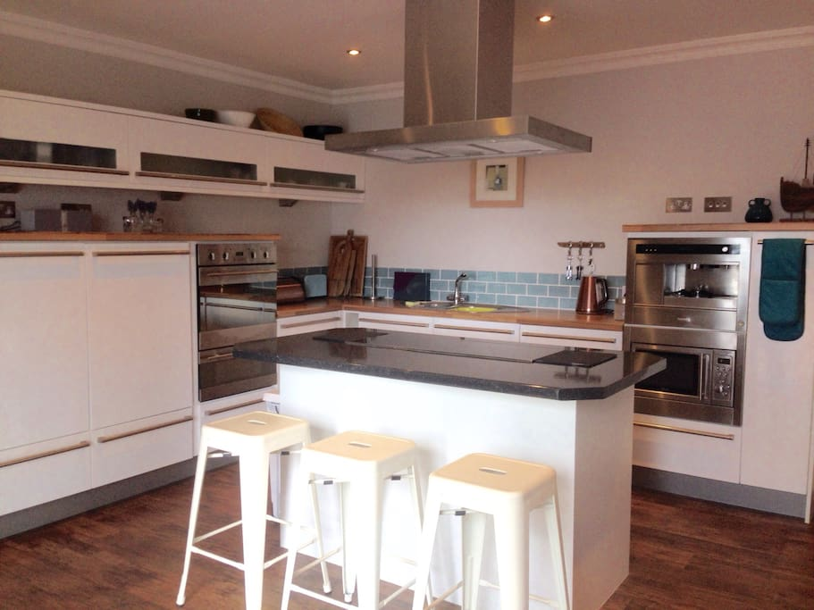 Spacious kitchen for family and friends to gather