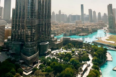 Burj Khalifa View - Lux 1BR in Burj Vista Tower