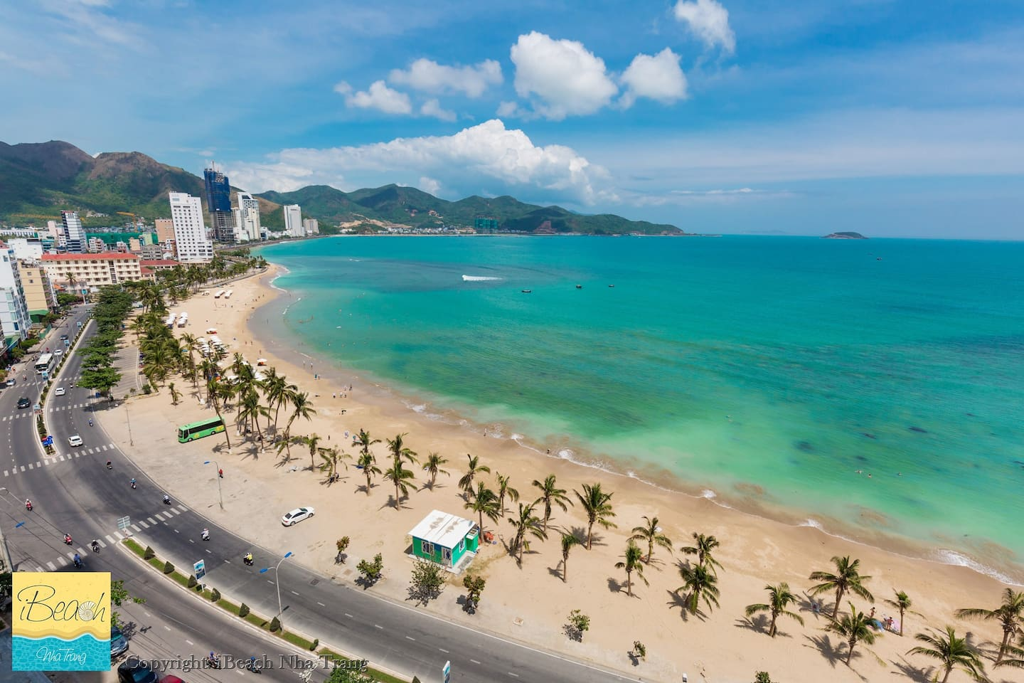 Nha Trang Bay - one in the most beautiful Bays of the world which is contemplated from your bedroom and living room