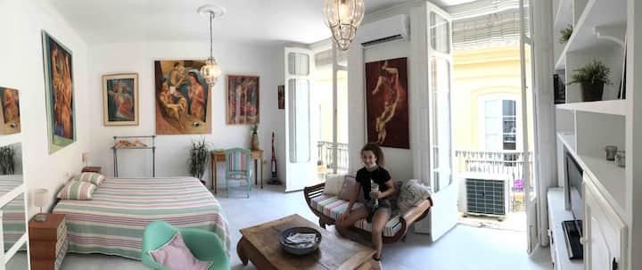 Studio in the old center of Malaga