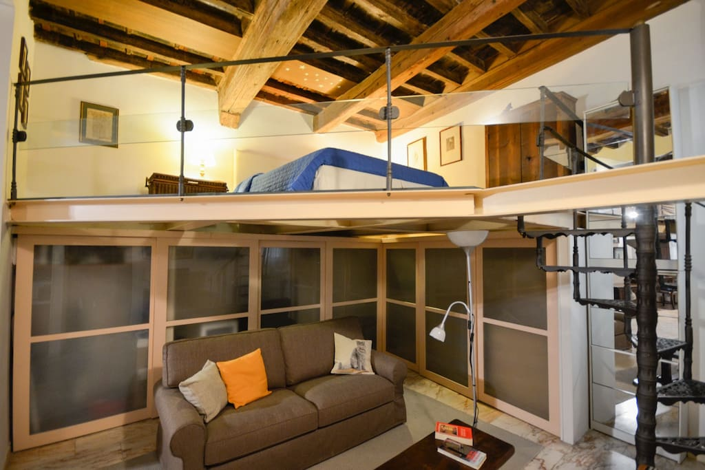 Living room and bedroom on loft