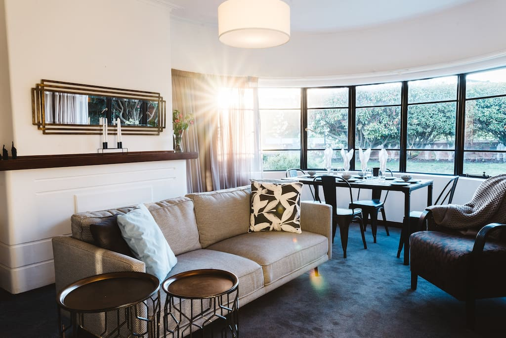 Southlynne's decor is a mix of modern comfort, with Art Deco touches.