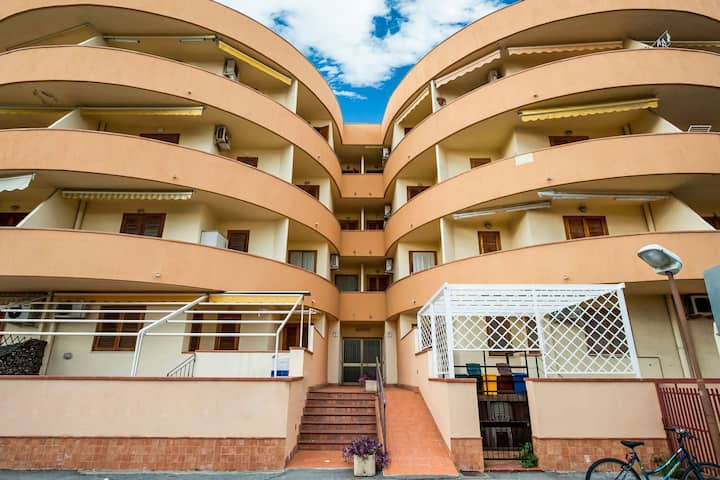 Alluring Apartment in Roccalumera with Balcony