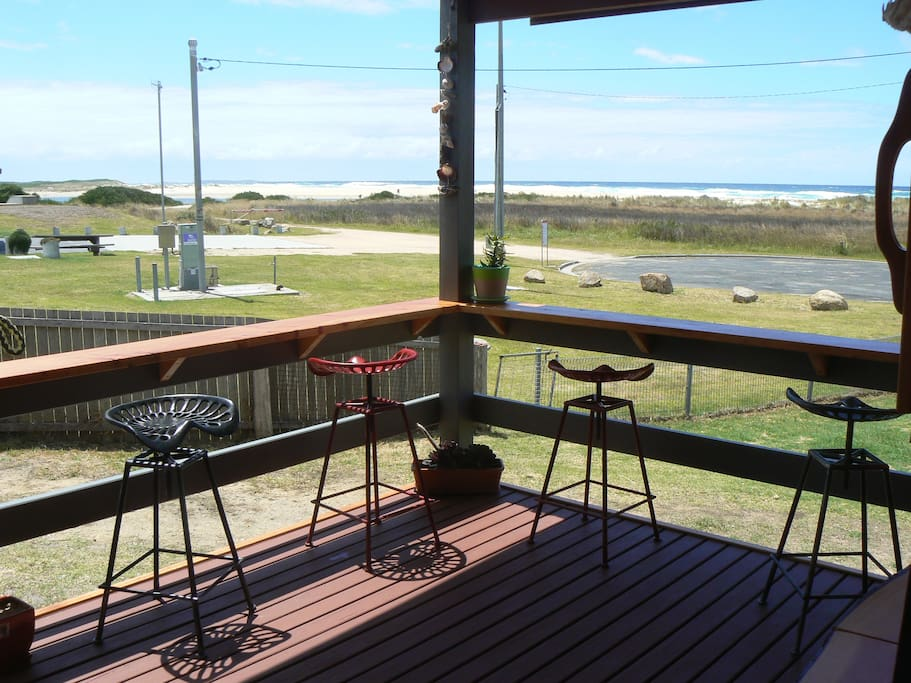 Sit on the deck and enjoy the beautiful views and relax