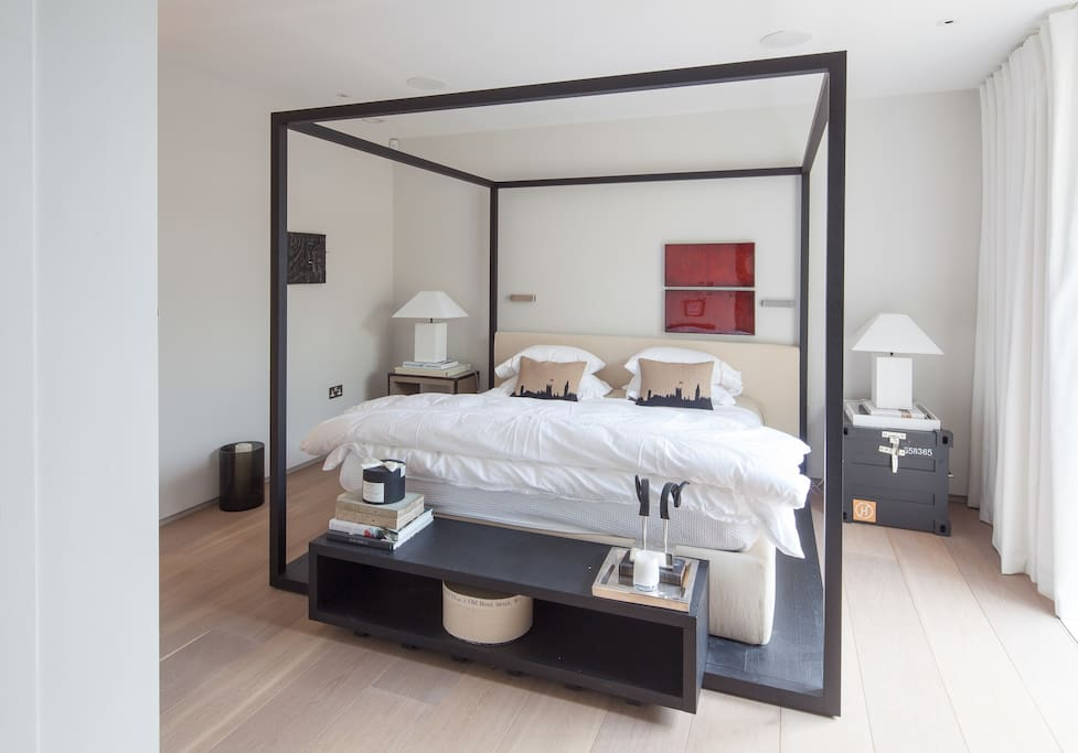 Wonderful contemporary space with luxury bed and linens.
