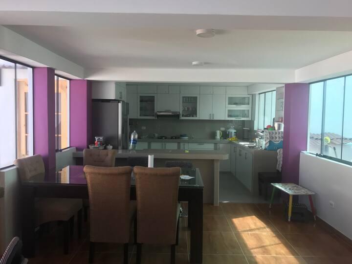 Casa para alojamiento de familias