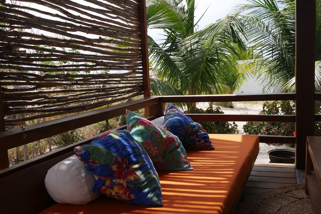 Sofa on the deck