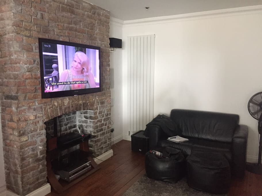 The living room with TV