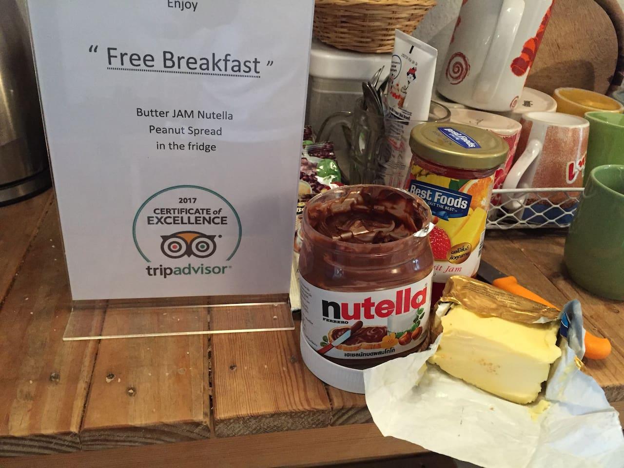 Enjoy free Breakfast ^#^