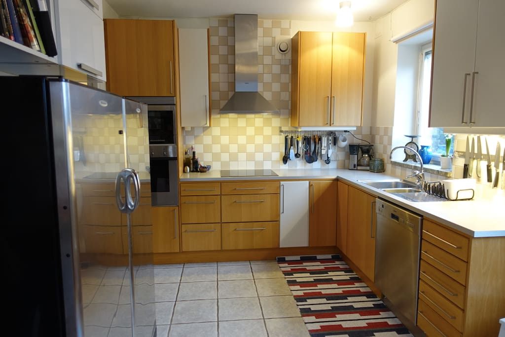 Large kitchen. Perfect for a stay in meal.