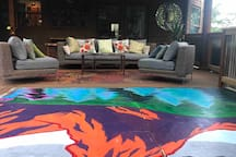 Enjoy any of the outdoor common areas on the main house wrap around deck