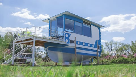 Houseboat by the sea Alkyona Beach - your oasis of peace