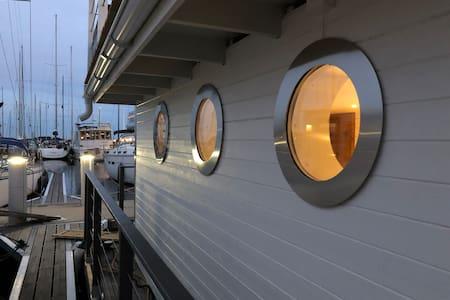House boat by Karlskrona city center
