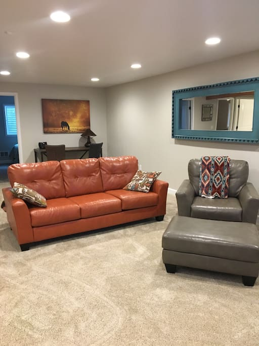 Spacious living area to hang out
