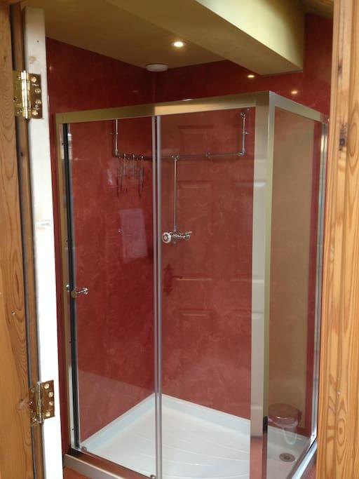 Large shower en-suite.