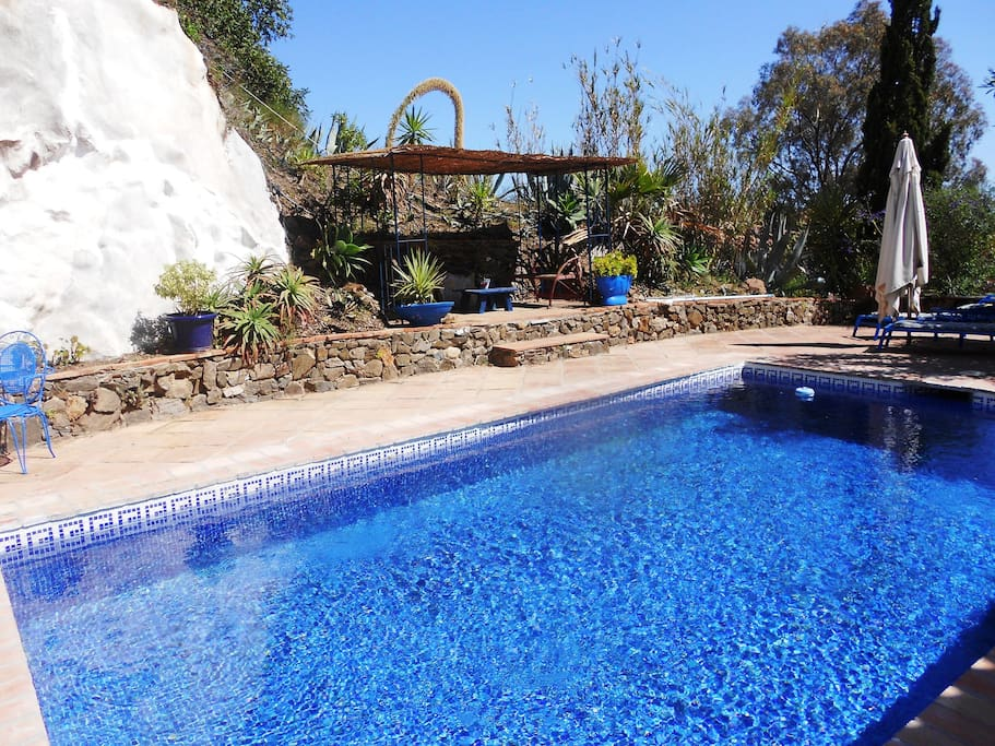 Great size pool which is private for your use, with sun beds and shaded area...
