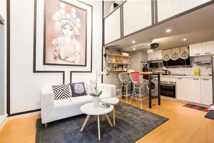 Downtown loft in French Concession, beside Line1/7 - Shanghai - Apartment