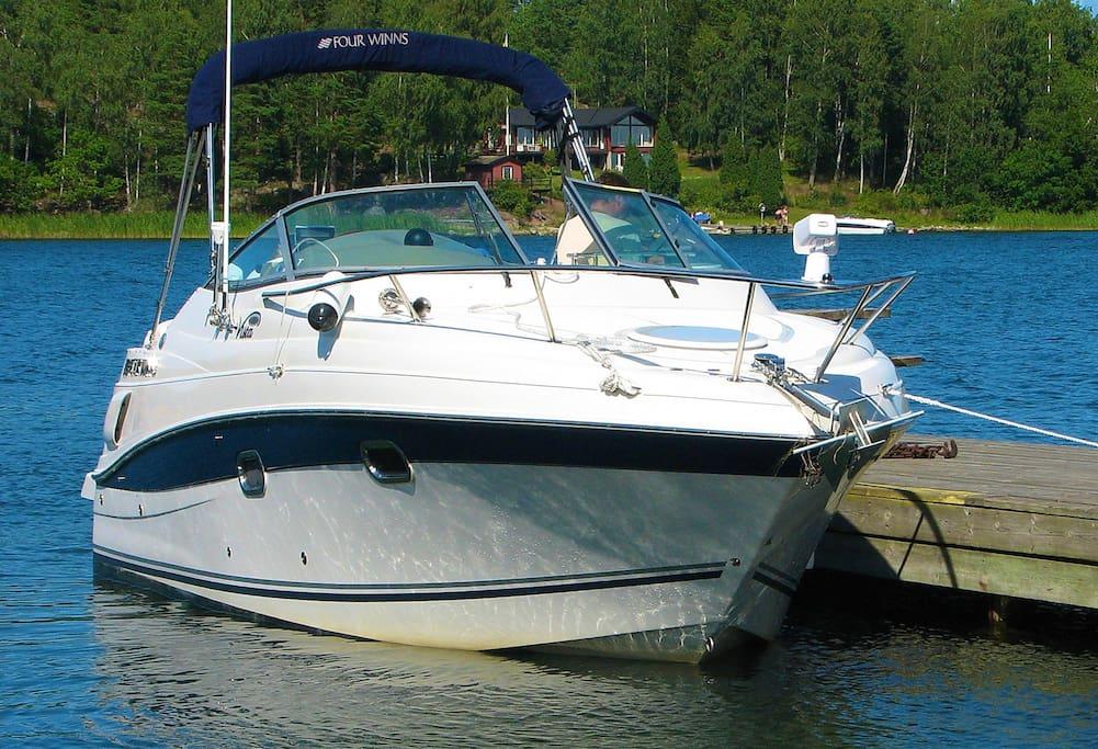 Yacht ready to trip