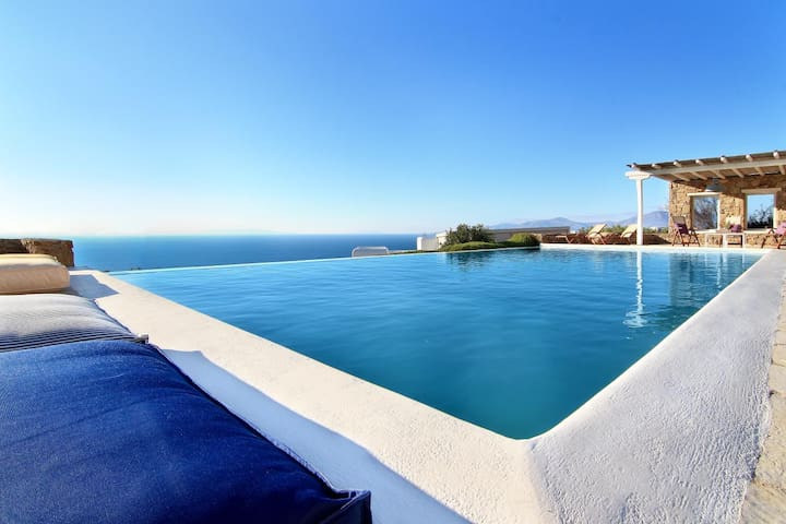 blueground villa, Houlakia, pool, sea view - Houlakia - Huis
