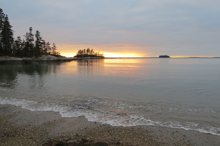 Beautiful winter sunset at Sand Beach