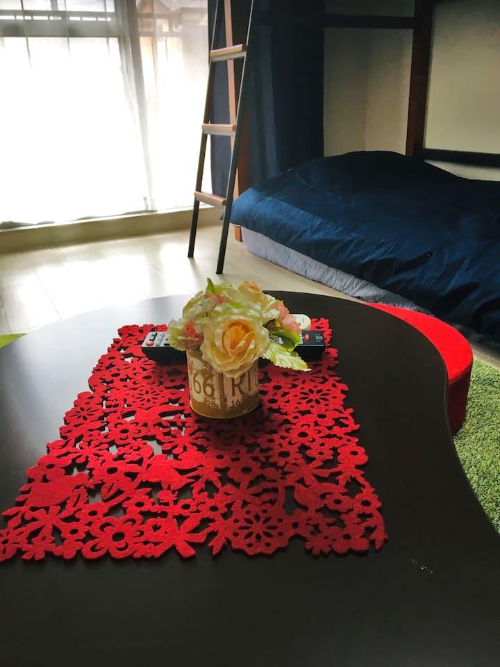 名古屋で安心な宿・ワンルームマンション貸切・旅行に仕事に静かで安全な宿・無料wifi・ペット可です。