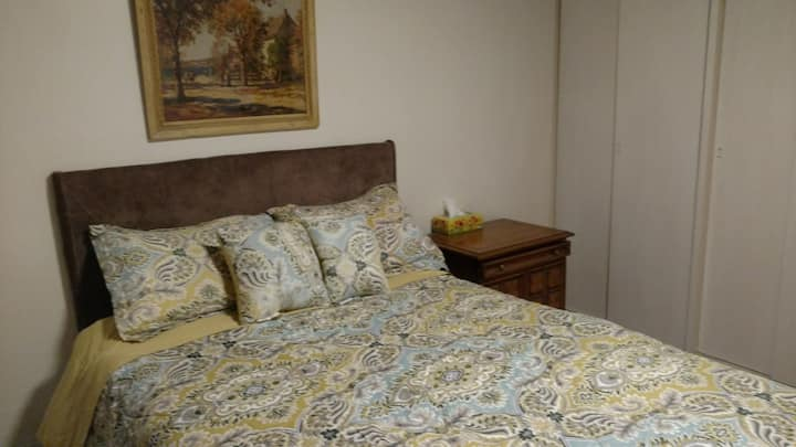 Comfortable,cozy,convenience,safe, and quiet room.
