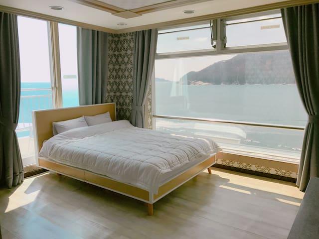 환상적인오션뷰 Tour house (B&B), 거제여행의 중심지 장승포 비앤비 - Jangseungpo-ro, Geoje-si - Kondominium