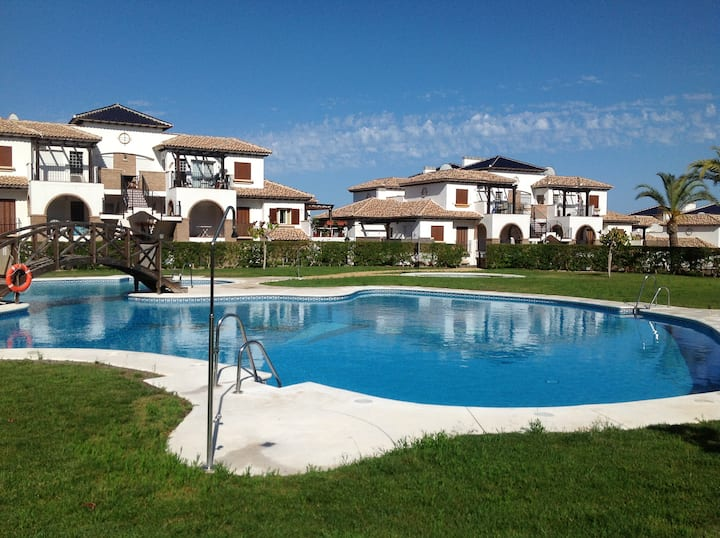 Vera Playa - Sunny 3 bedroom Duplex by pool
