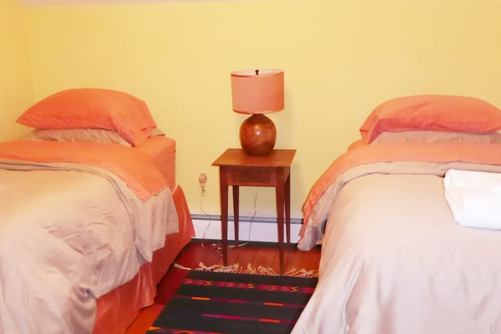Bedroom three, which has two twin beds