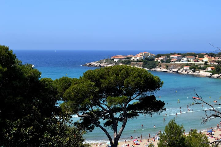 T2 60m2 + terrasse, 3-4 pers. proche mer - Martigues - 公寓
