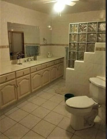 Modern bedroom & shower with All Amenities