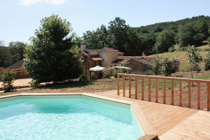 Charming holiday home with private swimming pool and fish pond.