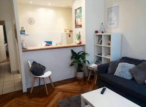 Convertible confortable dans appartement cosy