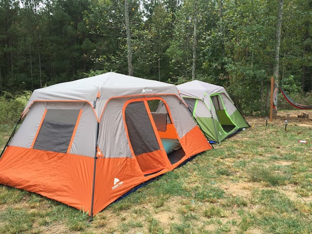 Furnished Tent Camping in Dahlonega - Dawsonville - Telt