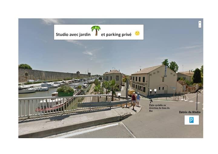 Studio avec jardin ⛱ et parking privé