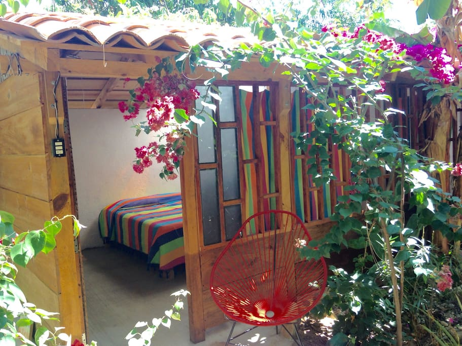 Enjoy our garden relaxing in this cabaña