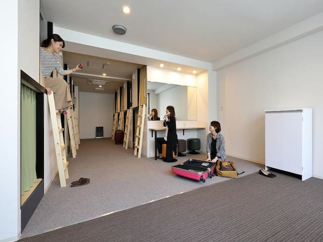 [10mins->Shinsaibashi,Namba]1 bed in Girl's Dorm