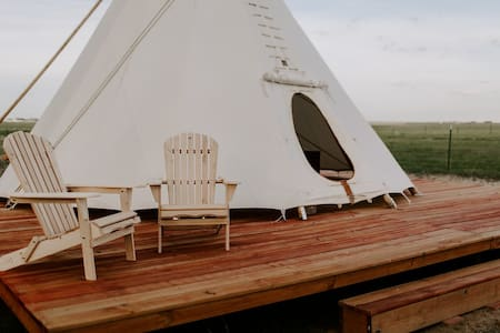 Creekside Glamping Teepee on Colorado Horse Ranch