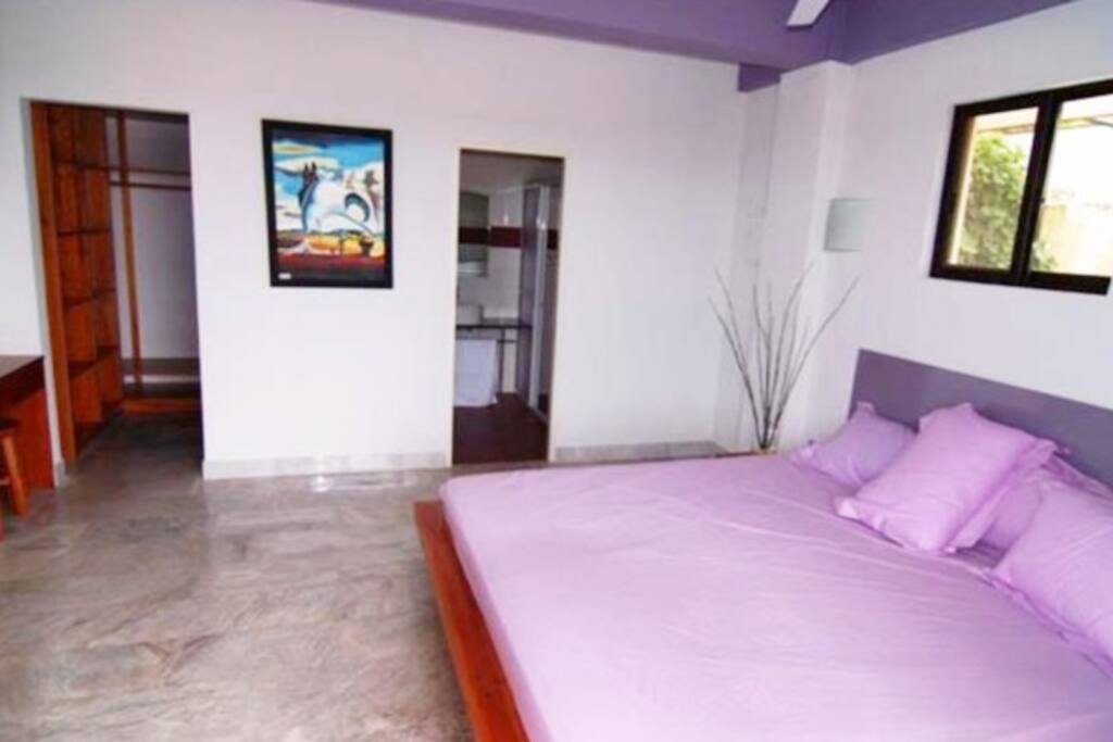 Bedrooms with flat screen TV,wardrobe, and 88X78 inches bed